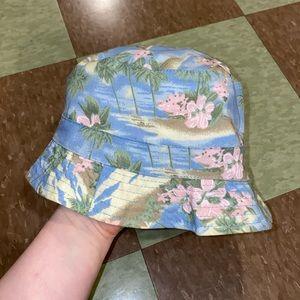 Vtg 90s tropical bucket hat beach resort
